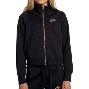 Nike Air - Track Jacket - Black & Rose Gold